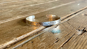 Arrow Stamped Cuff