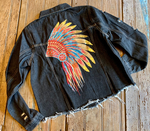 Headdress Denim Jacket
