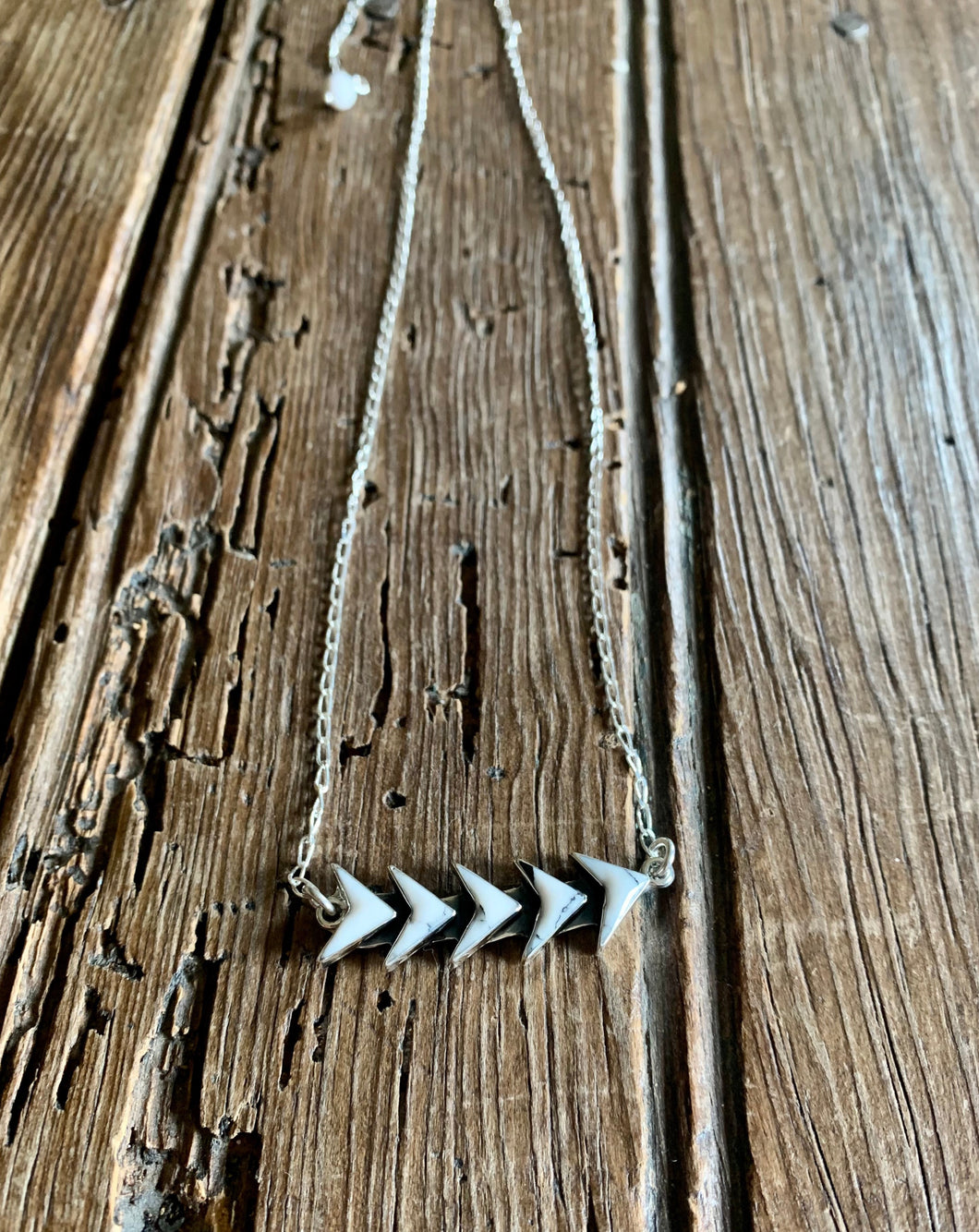 Chevron Howlite Necklace