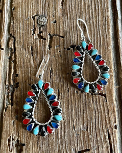 Multi-Stone Teardrop Earrings
