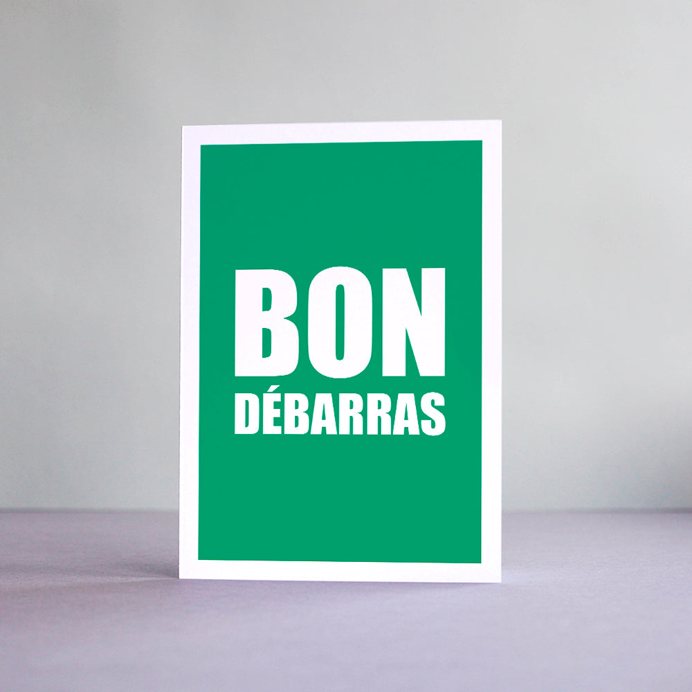 Carte Bon Débarras
