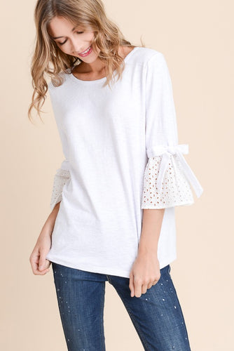 Eyelet Blouse at Apricot Vine Boutique