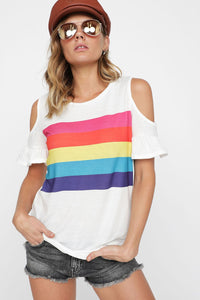 Short Sleeve Rainbow Top
