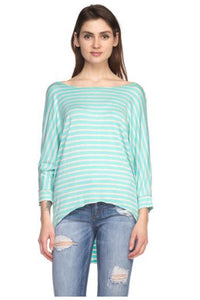 Stripped Dolman Top