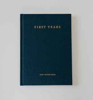 Midnight Blue Linen - The Minimalist Baby Book