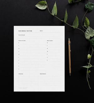Weekly Planner Sheet | Digital Download