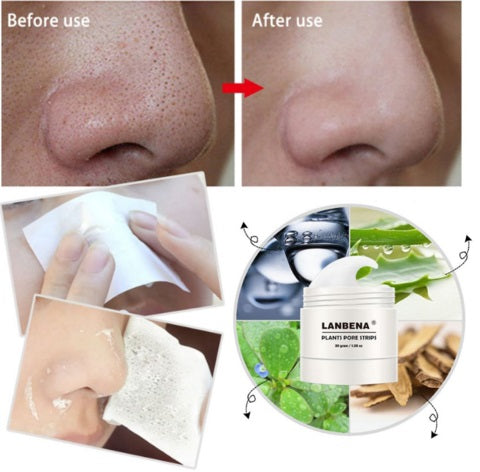 Lanbena Pore Strips Before & After