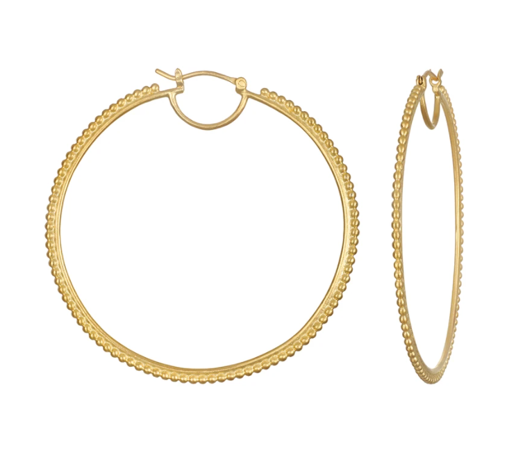 Satya Jewelry • Infinite Energy Hoop Gold Ohrringe