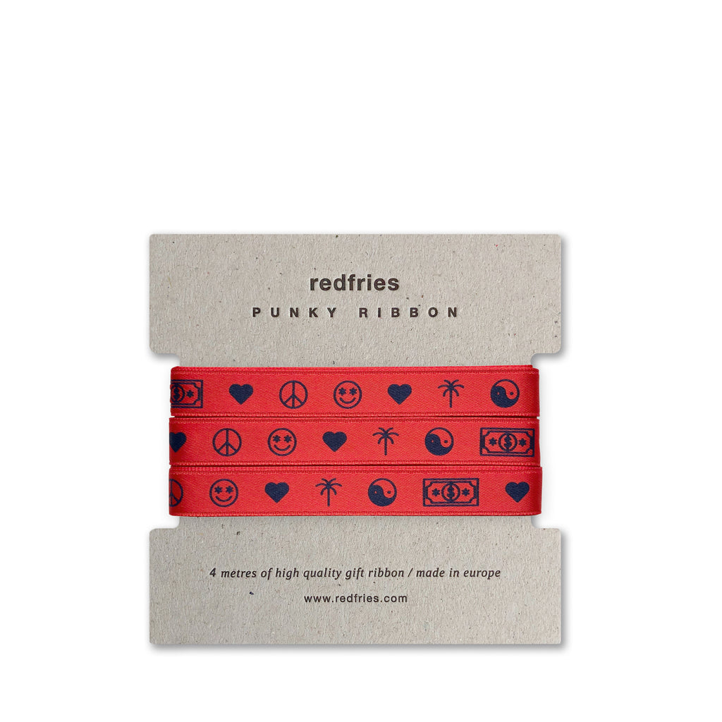 Redfries • Punky Ribbon Geschenkband Red