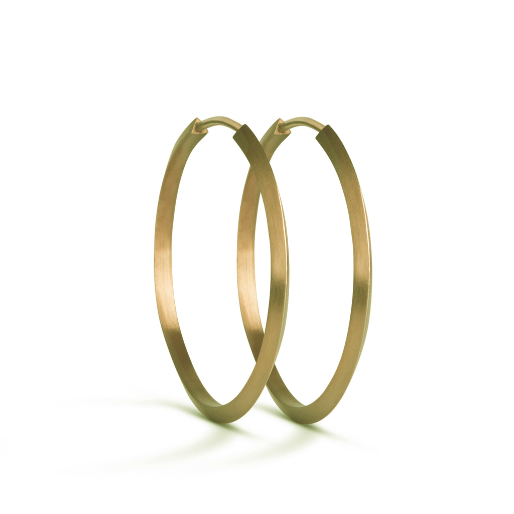 Jane Kønig • Midi Hoops Gold
