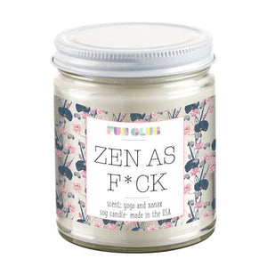 Zen As Fuck Candle