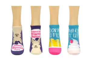 Sock House Co. Funny Llama Fries 2 Pair Pack Lowcut Socks