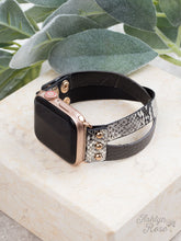 Don't Cross Me Snakeskin Leather Smart Watch Band