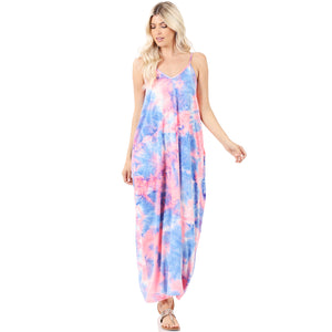 Cotton Candy Tie-Dye Maxi Dress