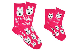 Sock House Co. Me + My Mini Llama 2 Pair Pack Crew Socks