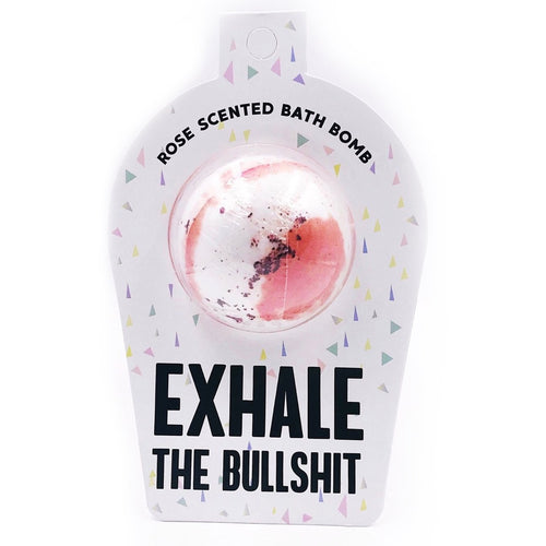 Exhale the Bullshit bath bomb