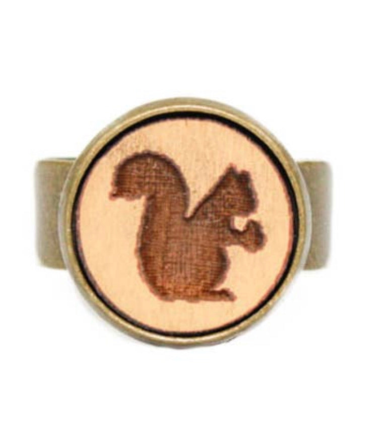 Small Squirrel Cameo Ring