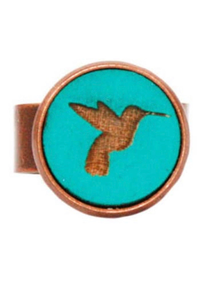 Small Hummingbird Cameo Ring