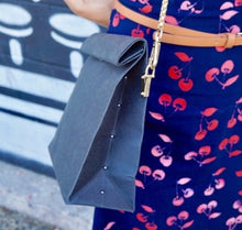 Pink Haley Recycle Paper Bag Clutch
