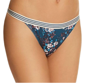 Spring Blue floral thong