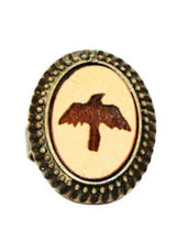 Large Crow Cameo Ring