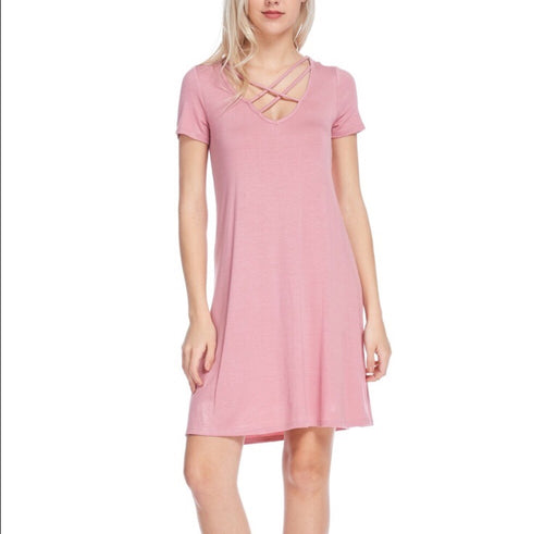 Bellino Crisscross A-Line Dress