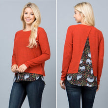 Red sloth print sweater