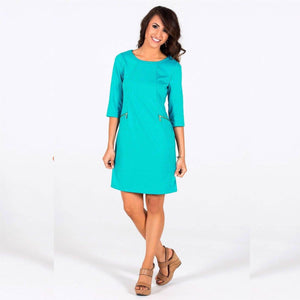 Tracy Negoshian Turquoise Kimora dress