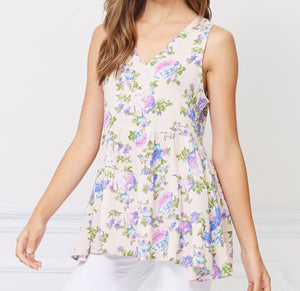 Bellino Floral Tiered Tank