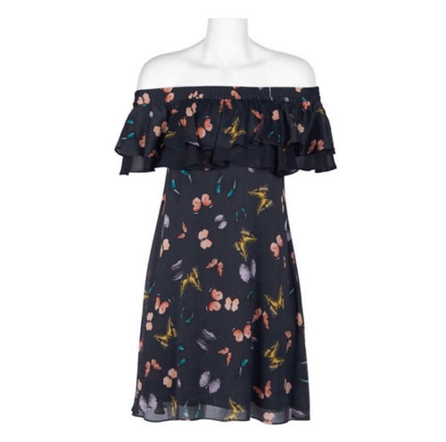 Sam Edelman Off-Shoulder Floral  Dress