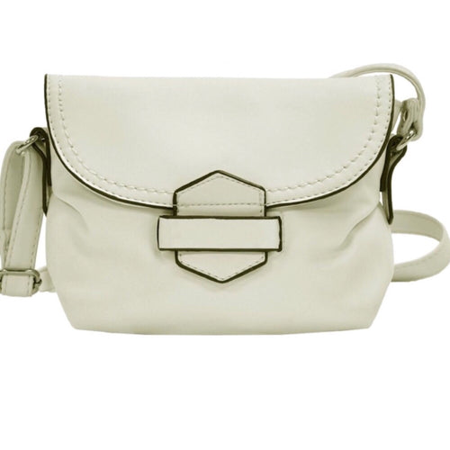 Sassy off-white soft loop & tuck bag