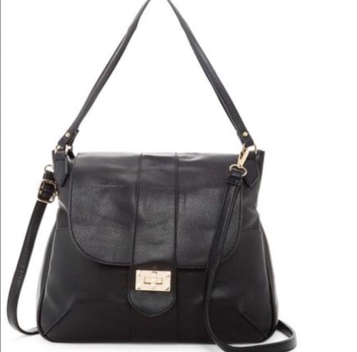Pink Haley classic shoulder bag in black