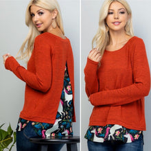 Red unicorn print sweater