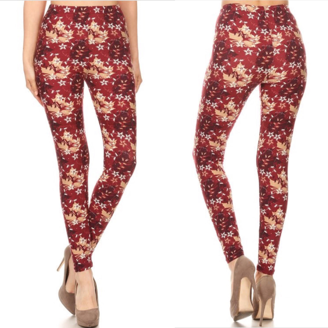 Fall leaf leggings