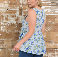 Bellino Plus Floral Tiered Tank