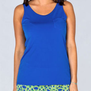 Tracy Negoshian Daphne blue tank