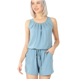Breezy Blue short jumpsuit