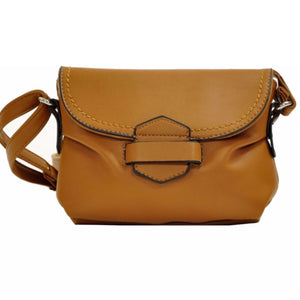 Cognac soft loop & tuck bag