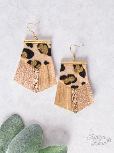 Locked out of Heaven with Leather Fringe Earrings