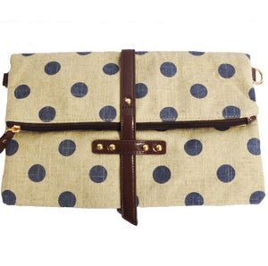 Navy Polka Dot Bag