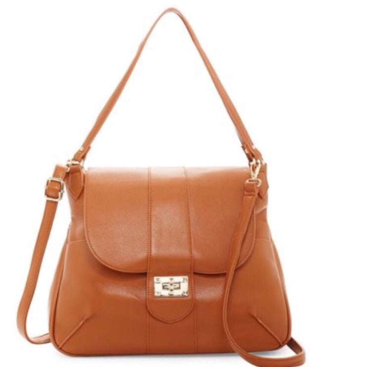 Pink Haley classic shoulder bag in tan