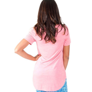 Coral tunic t-shirt