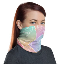 Unicorn print neck gaiter