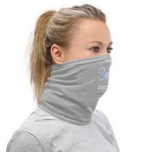 Go the social distance gray neck gaiter