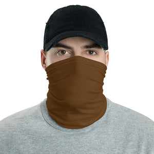Brown neck gaiter