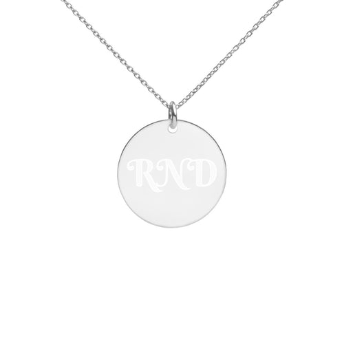 Customized Initial Engraved Silver Disc Necklace
