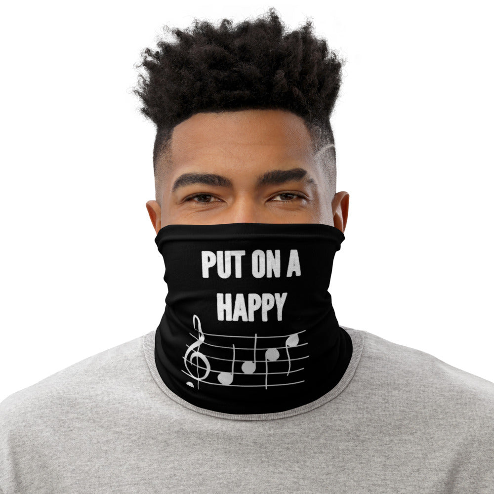 Put on a happy face neck gaiter