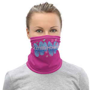 Glitter Monster print neck gaiter