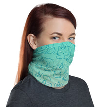 Turquoise Nine Tail Caticorn neck gaiter