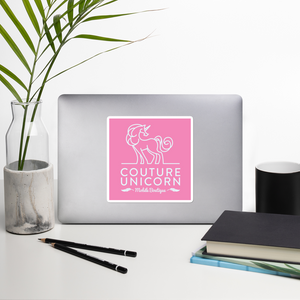 Couture Unicorn logo bubble-free stickers